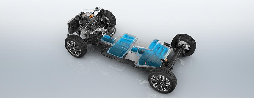 Nouveau SUV électrique PEUGEOT e-2008 : base roulante électrique