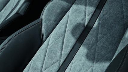 Nouvelle PEUGEOT 508SW HYBRID - garnissage exclusif en Alcantara® gris Gréval