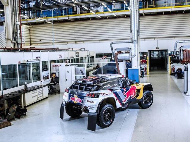 La Peugeot 3008 DKR au Dakar 2017 – Vue arrière du modèle