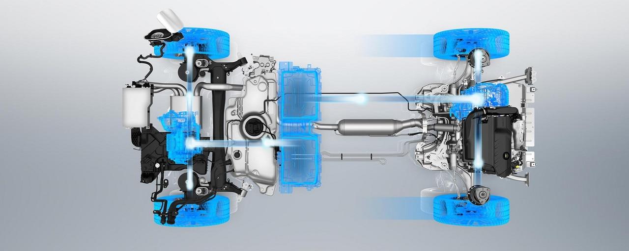 PEUGEOT 3008 GT HYBRID4: Mode 4WD en électrique